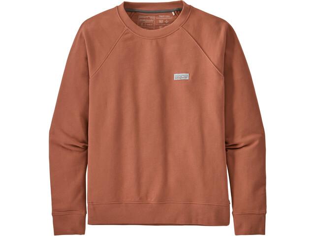 Patagonia Pastel P-6 Label Organic Crew Sweatshirt Dames, century pink